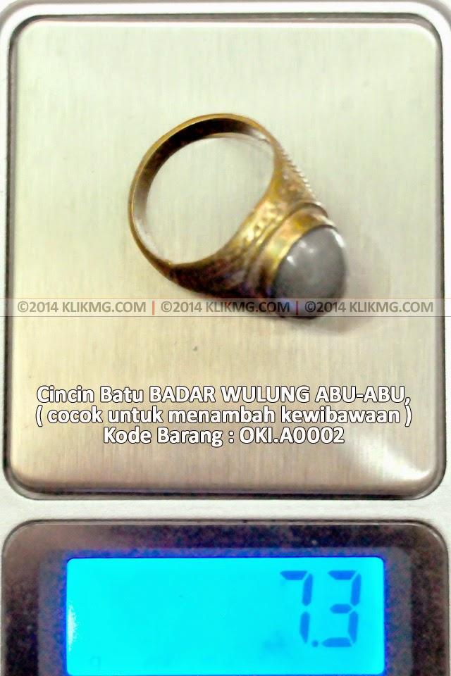 Cincin Batu BADAR WULUNG ABU-ABU, cocok untuk menambah kewibawaan - Kode Barang : OKI.A0002