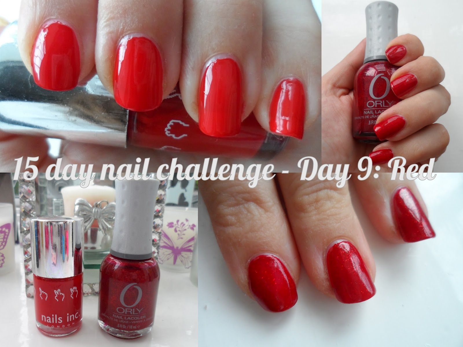 Makeup Savvy 15 day nail challenge - Day 9 - Red | flutter and sparkle