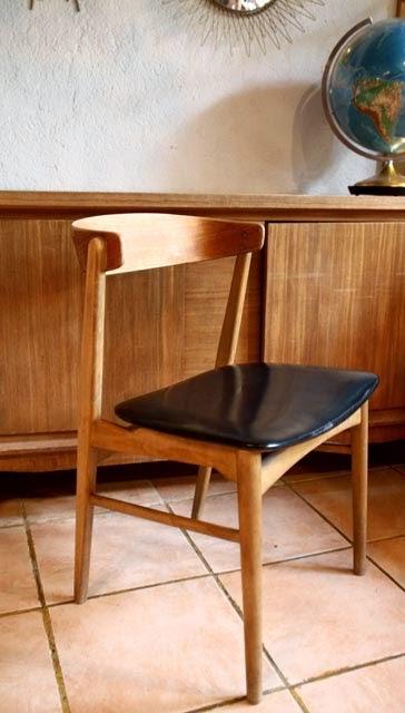 chicbaazar objets vintage 50 60 70 fauteuil chaise bureau scandinave 1960. Black Bedroom Furniture Sets. Home Design Ideas