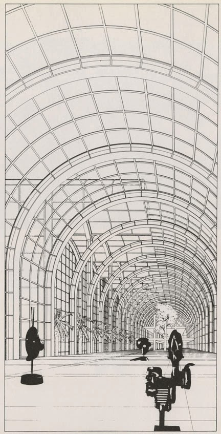 I Have To Admit That One Point Perspectives Of Barrel Vaults Do A Lot For  Me. This Drawing Of An Exhibition Hall In Frankfurt Am Main By Oswald  Mathias ... Part 65