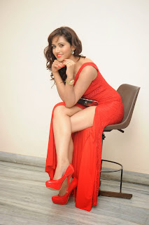 Preeti Rana Spotted at Movie Press in lovely Leg Split Red Sleeveless Gown Must see