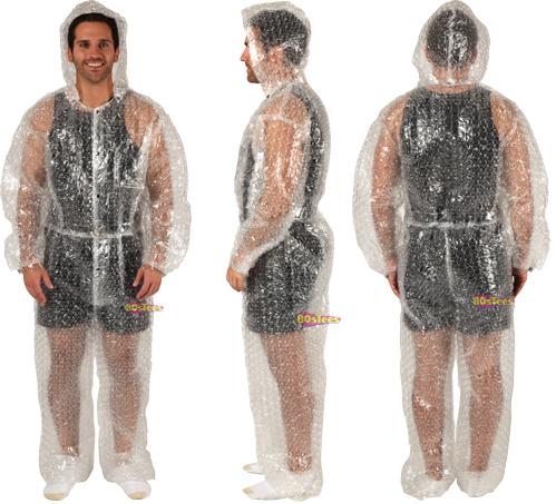 Traje de pl stico de burbujas yei la guarida geek - Plastico de burbujas ...