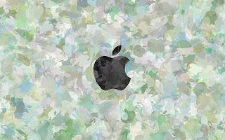greyscale Apple Mac logo