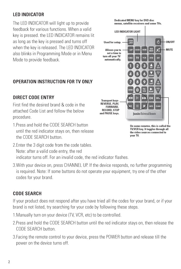 how to use universal remote control