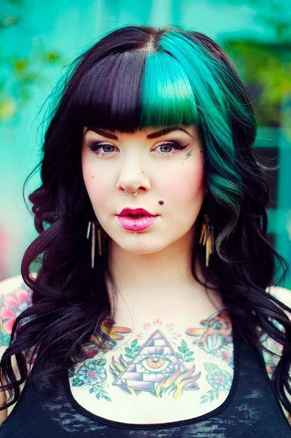 Half And Half Hair Coloring Images And Video Tutorials