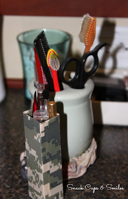 DIY Make-up & Brush Holder #2