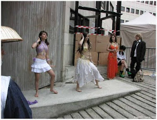 cosplay danseuse orientales allée