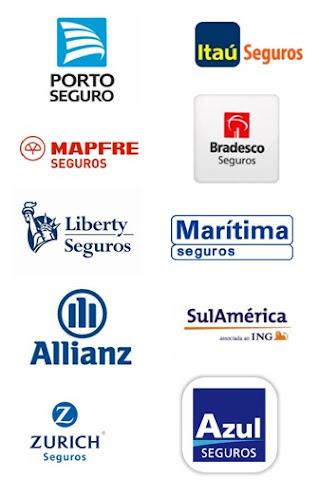 Trabalhamos em parceria com as melhores seguradoras do mercado.