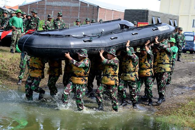 615 Pati dan Pamen TNI Ikuti Uji Ketangkasan Militer di Karang Pilang