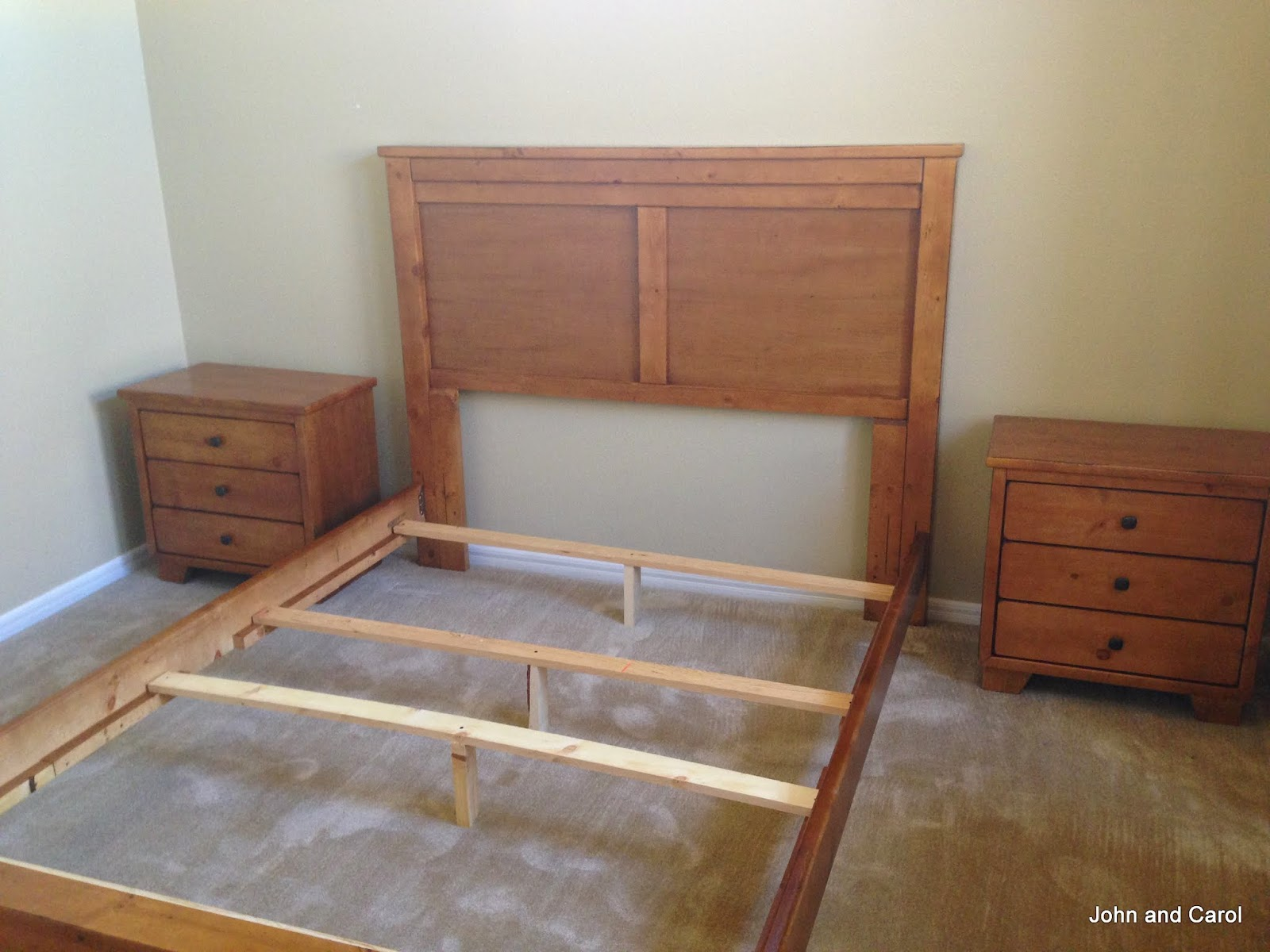 5th wheel wanderings furniture arrives for Furniture you put together