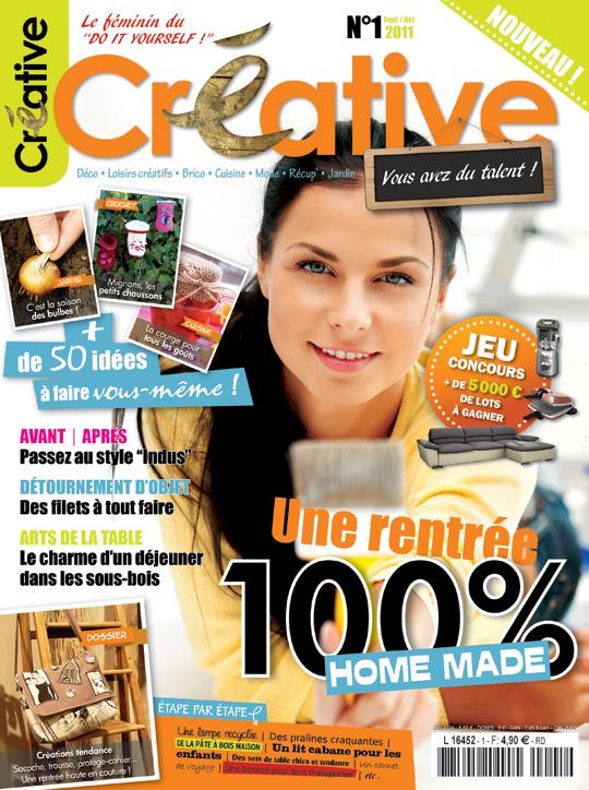 Créative magazine, jeu concours, gagner le n°1 de Créative magazine, un exemplaire de créative magazine à gagner, 1000 fans sur facebook, do it yourself, créations, loisirs créatifs, jeu, concours