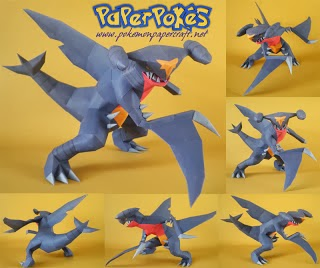 Pokemon Garchomp Papercraft - Dragon Model
