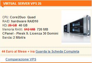 Server Virtuale VIRTUAL SERVER VPS 25