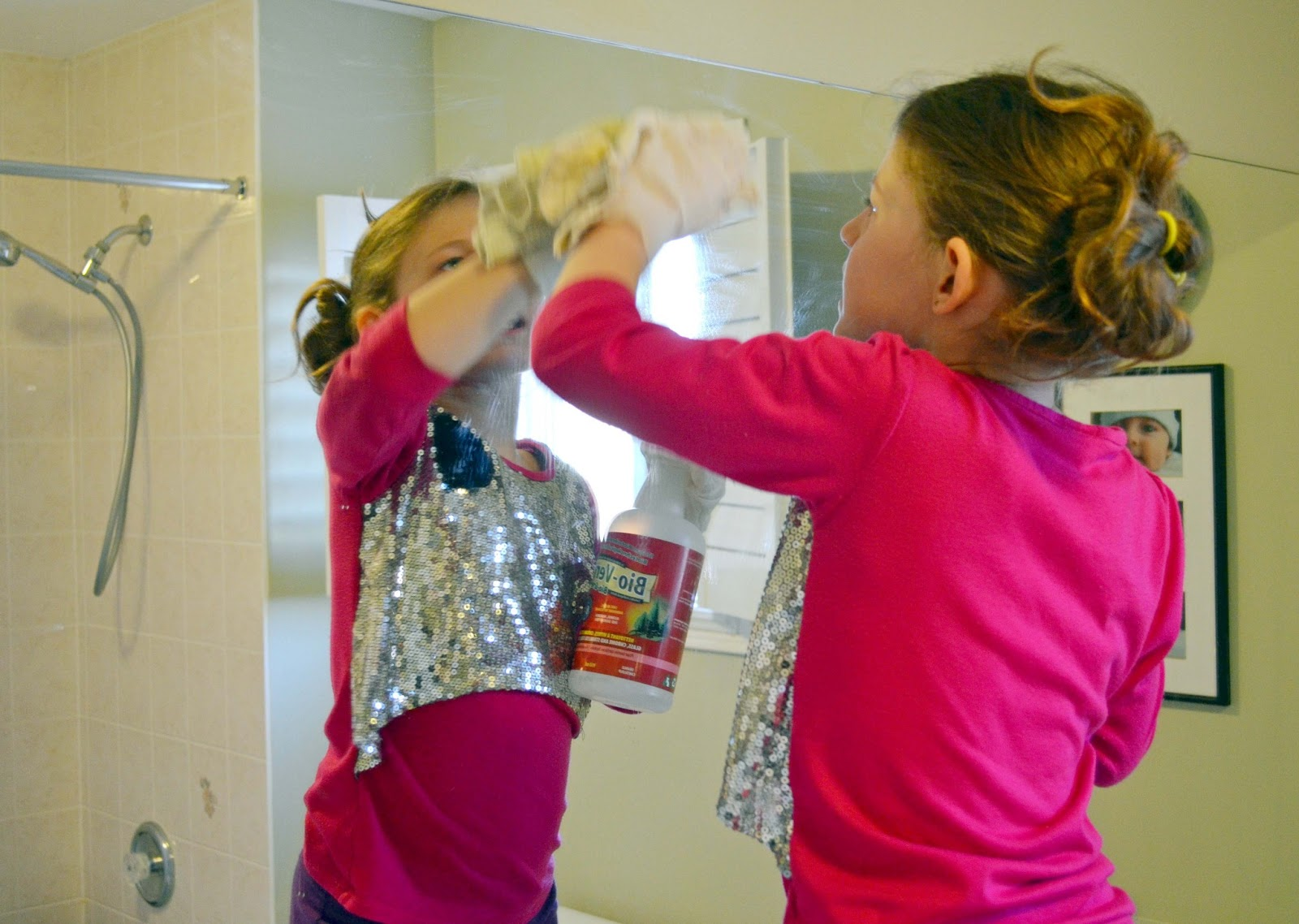 Kids can clean the bathrooms - Teaching Children To Clean