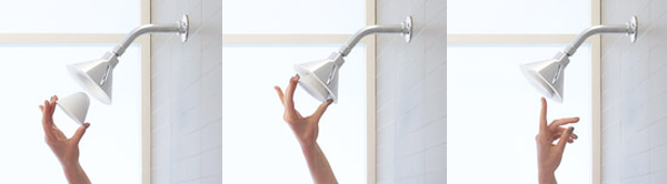 Moxie Showerhead + Wireless Speaker from Kohler