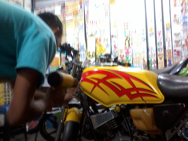 cutting sticker yamaha rx king3