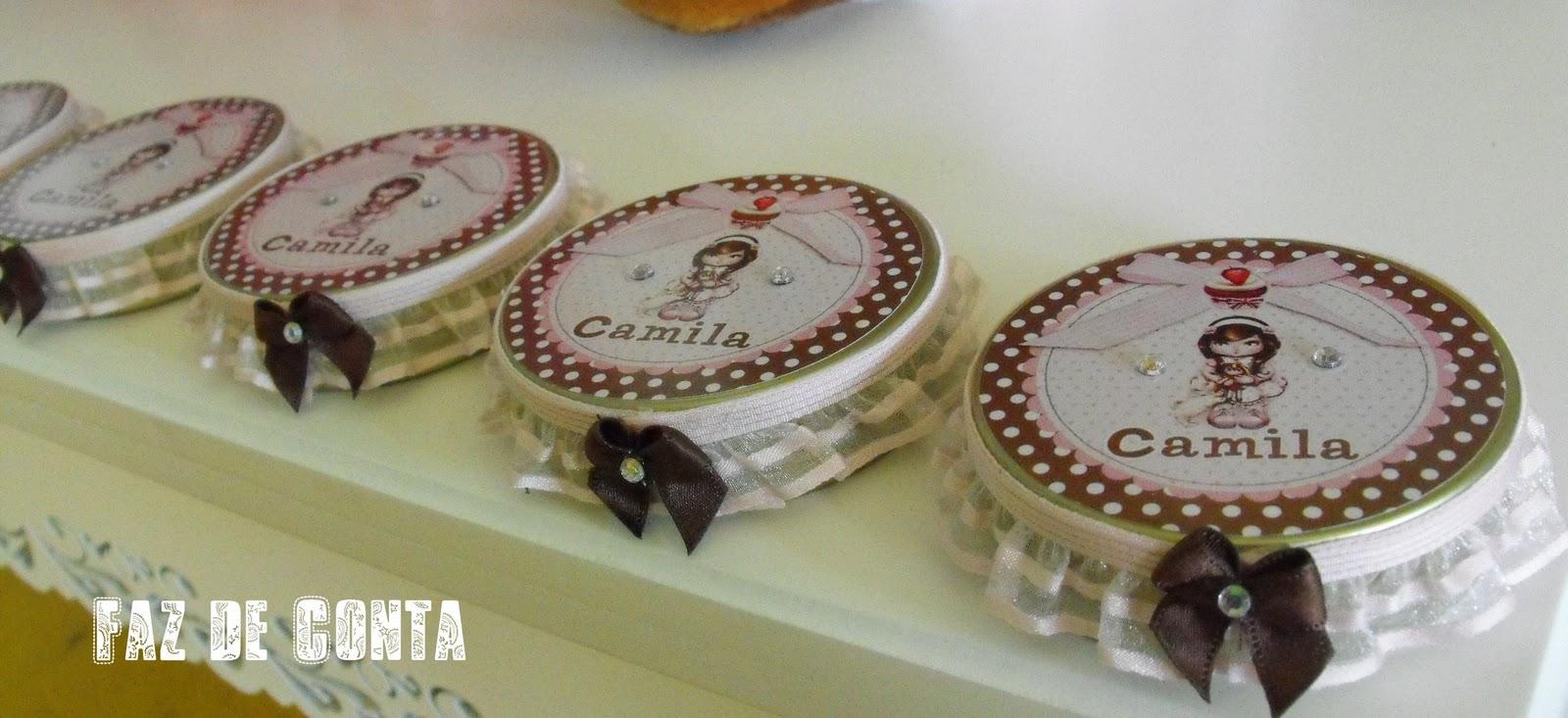 Faz de conta personalizados festa jolie - Jolie cupcake ...