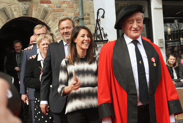 Princess Marie of Denmark admitted Saturday, April 18, 2015 in the Christian IV Guild of Jens Bang's House Aalborg.