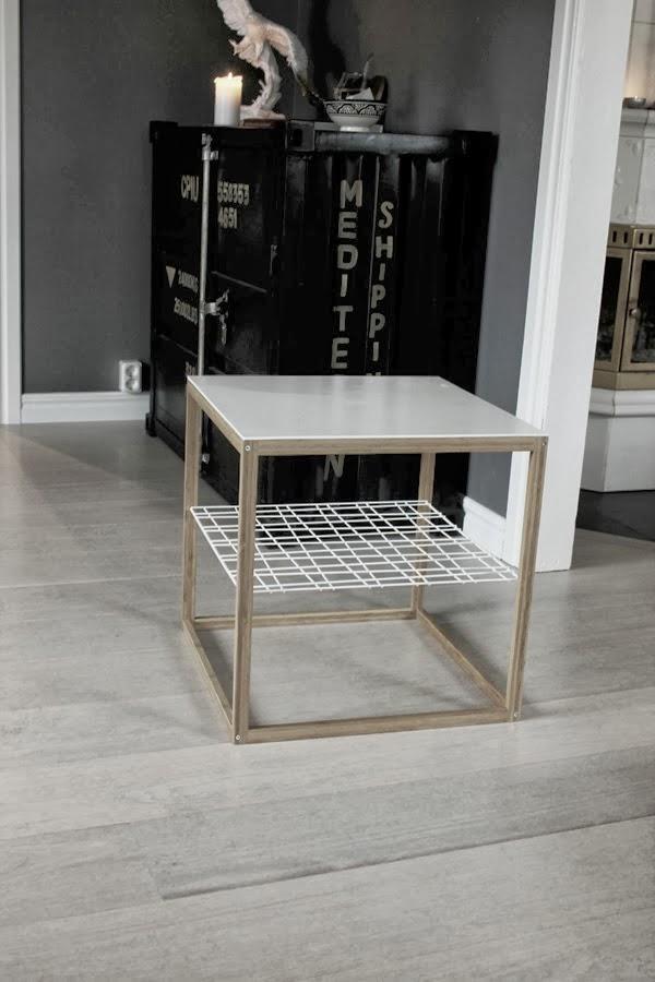 ikea bord, diy, galler för diy, avlastningsbord, sidobord, måla möbler,