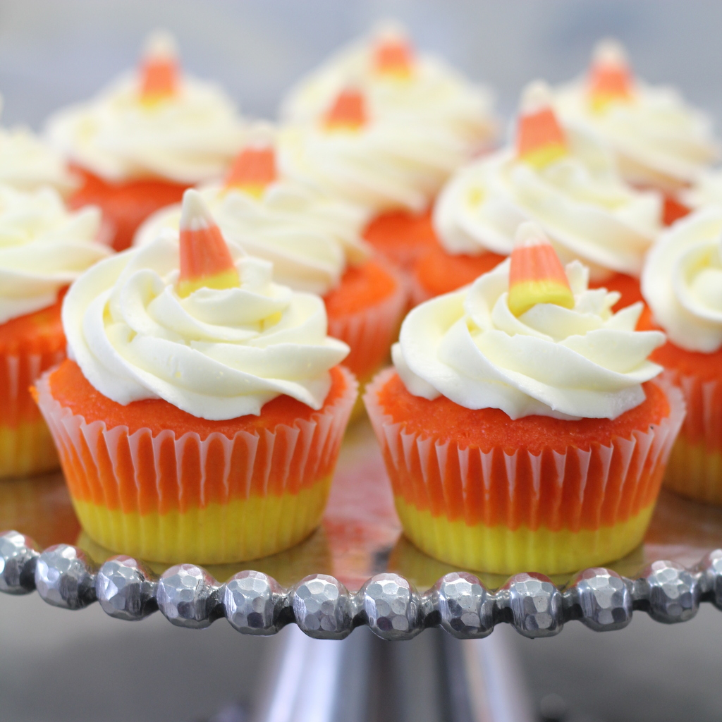 Candy Corn Turkey Cupcakes