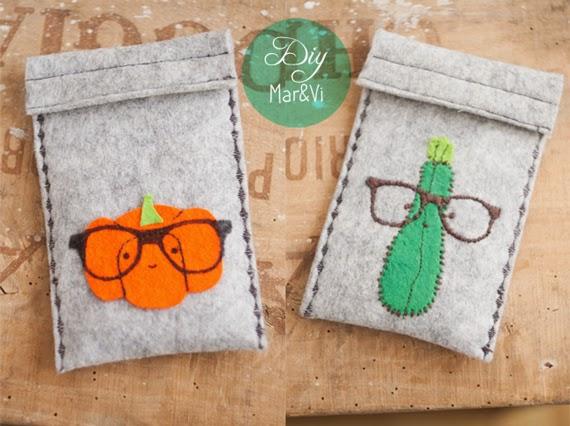 Fundas para gafas fáciles de fieltro