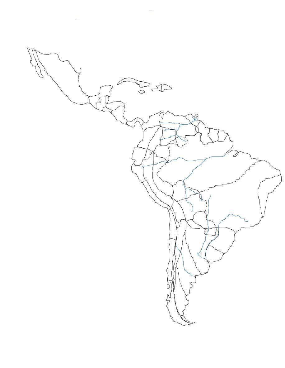 Mapa De America Latina En Blanco