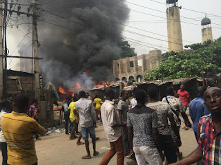 Onitsha Central Mosque razed during pro- Biafra protests