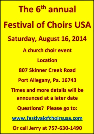 8-16-2014 Festival of Choirs USA 2014