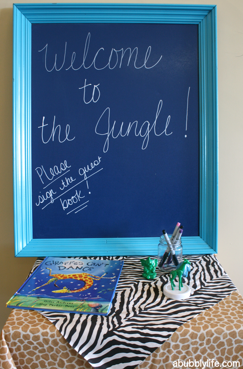 bubbly life welcome to the jungle baby shower