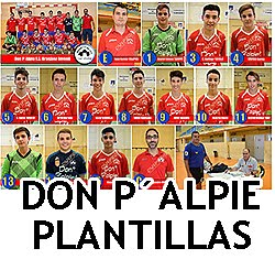 Don P´Alpie: Plantillas