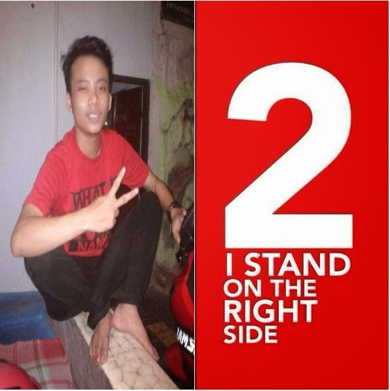 Cara membuat Foto I STAND ON THE RIGHT SIDE (2) Buat DP Blackberry JKW4P