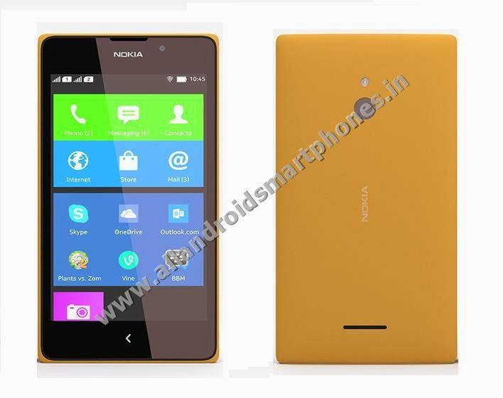 Nokia XL 3G Dual Sim Android Phablet Orange Color Front Back All Images Photos Review