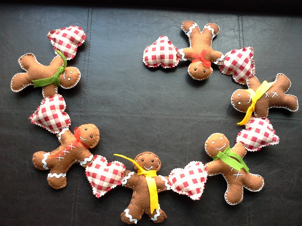 wendys crafting times Felt Gingerbread Man Garland