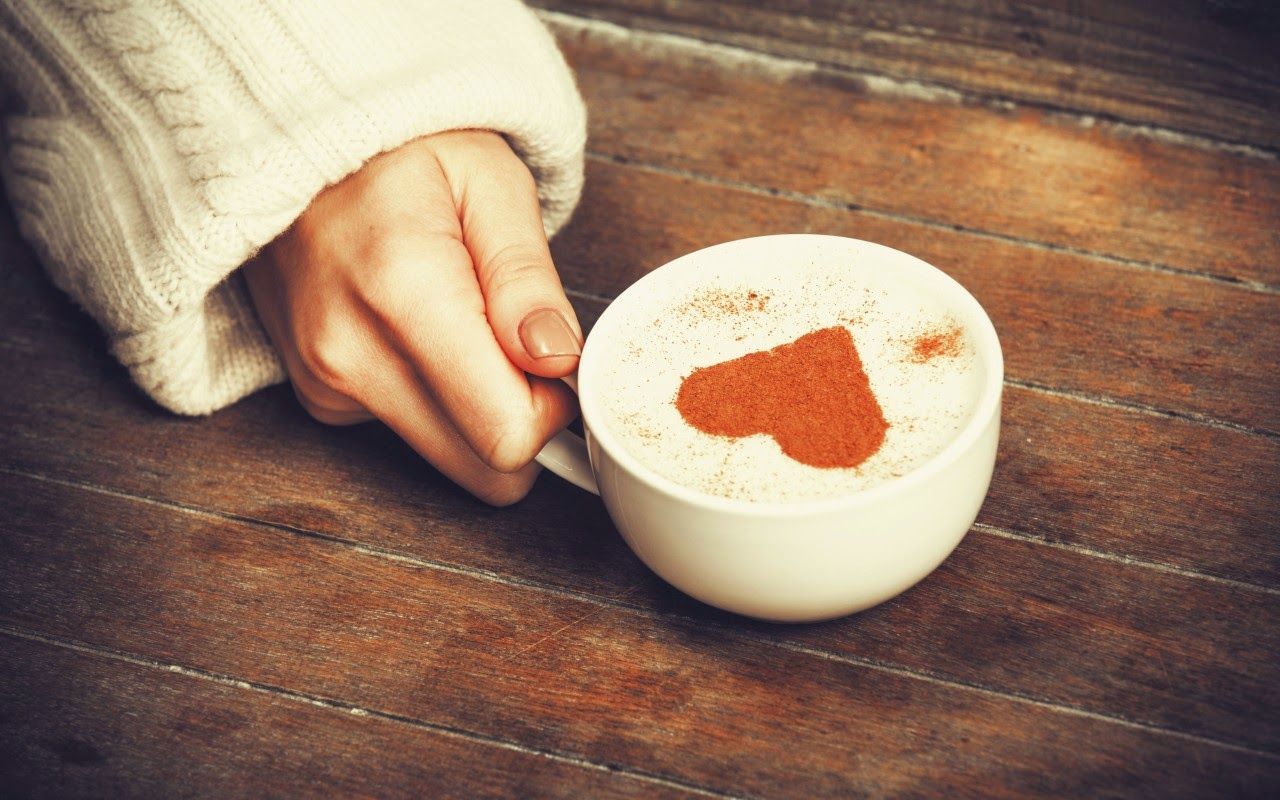 Heart Shape On Coffee Hd Wallpaper Rewallpaper