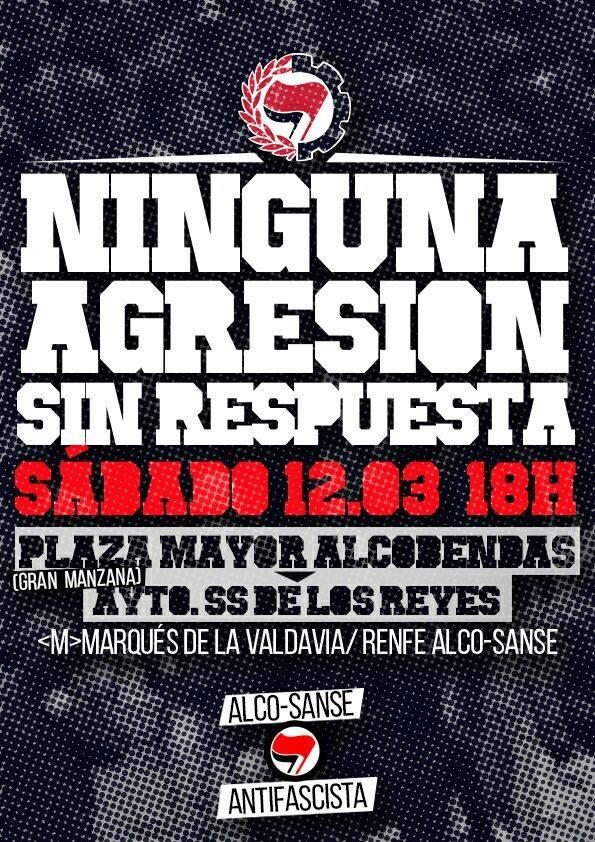 #12M MANIFESTACIÓN ALCOSANSE ANTIFASCISTA