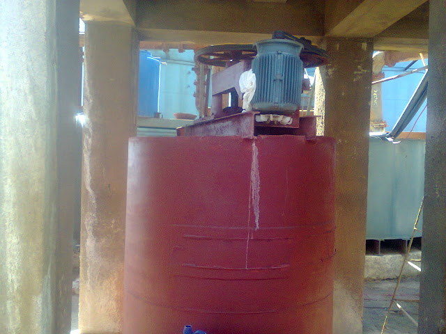 tank for making the solution of caustic soda