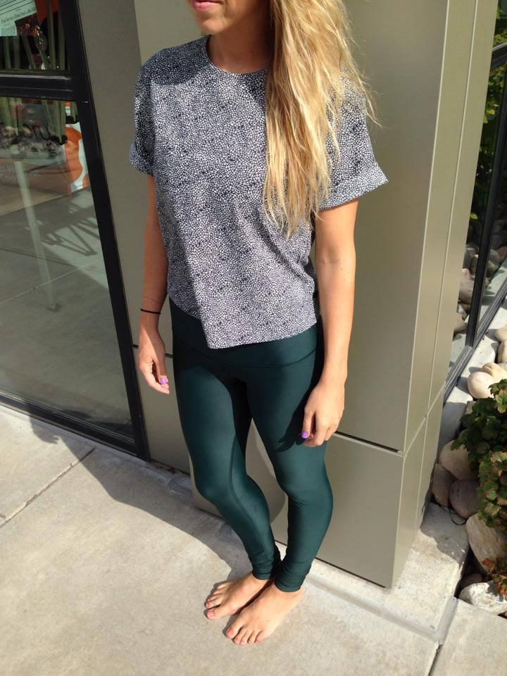 lululemon fuel green shine tight plush-petal-top