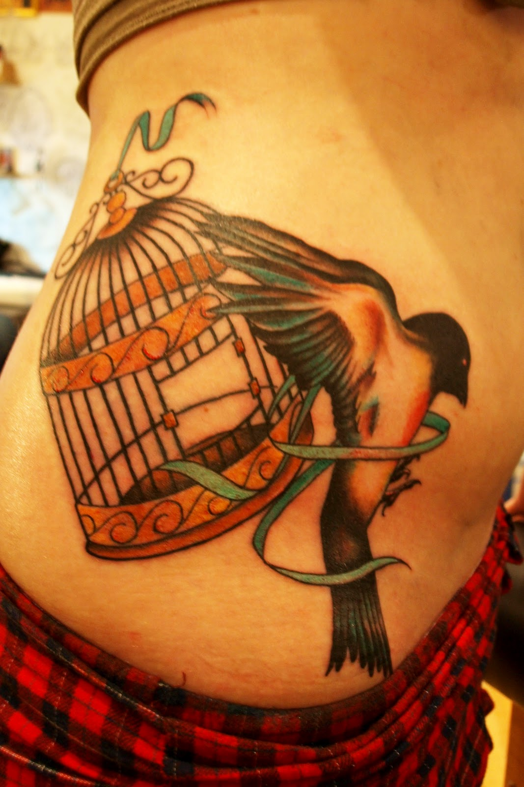 Birds Flying Out Cage Tattoo Pic #15