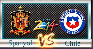 Video Cuplikan Gol Spanyol vs Chile