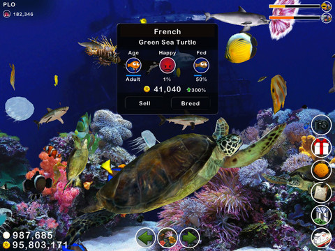 Free games tap reef hd fish farm atari 39 s greatest hits for Turtle fish games