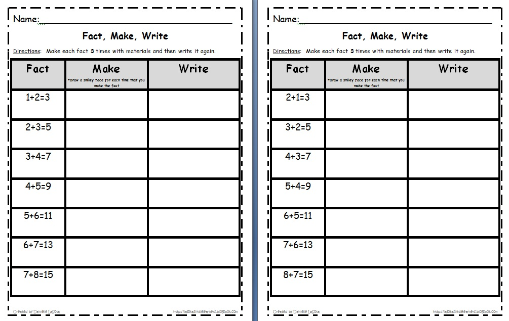 Addition Doubles Worksheet – Doubles Addition Facts Worksheets