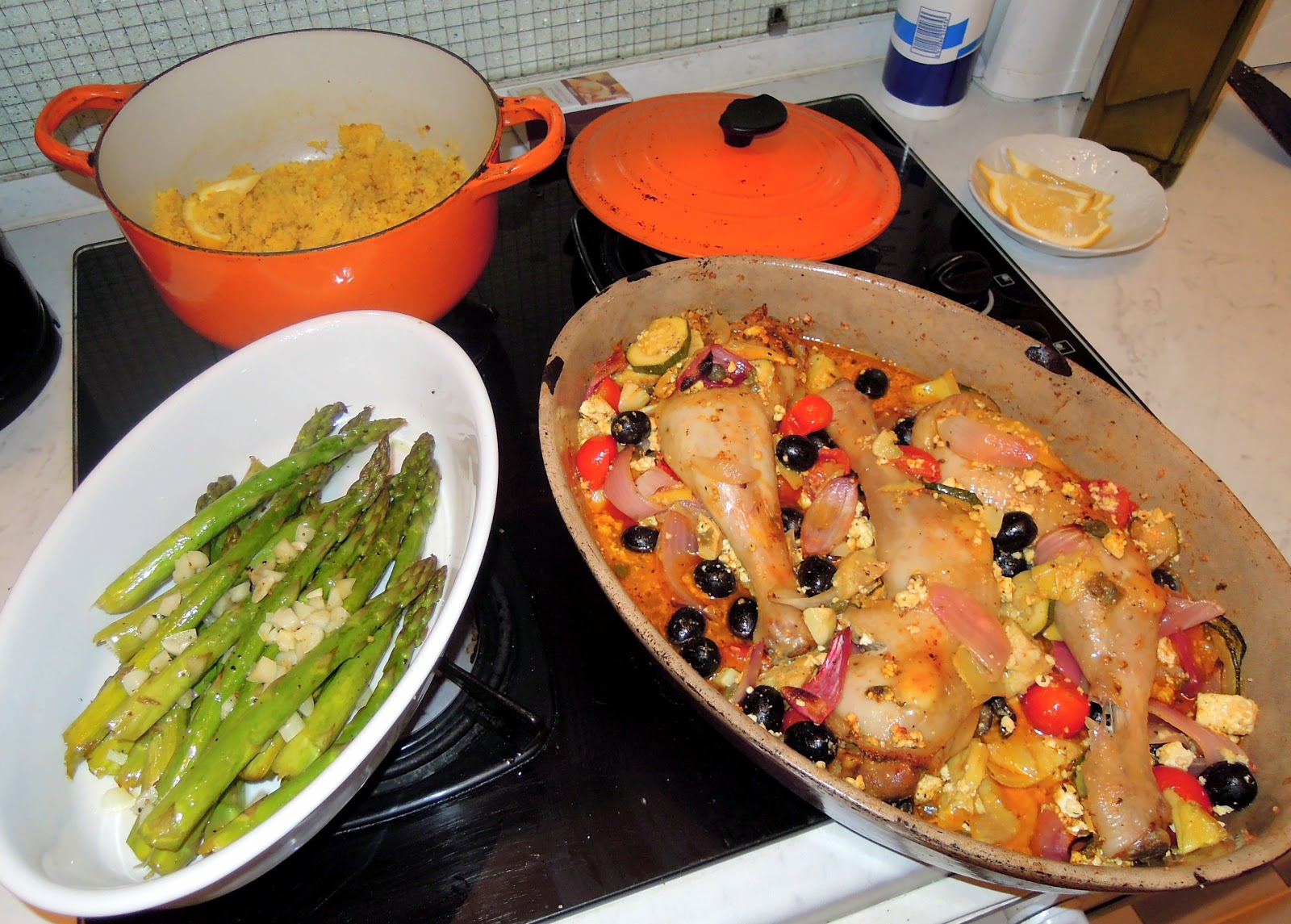 ... : Couchsurfing in Vienne with Mediterranean Baked Chicken Thighs