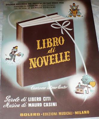 Sanremo 1952 - Achielle Togliani - Libro di novelle