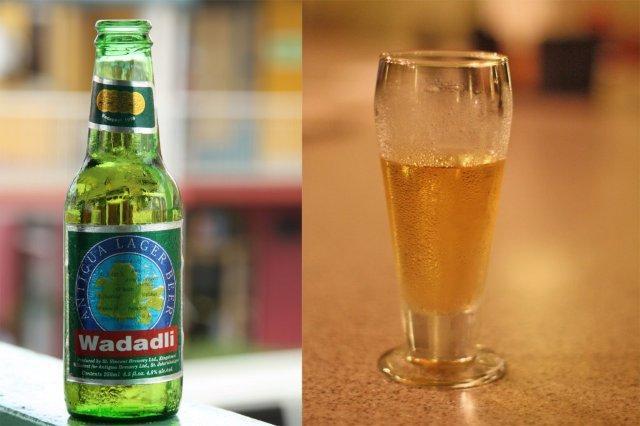 Cerveza Wadadli en Antigua