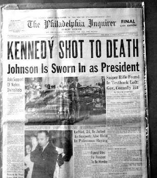 Jornal diz:KENNEDY MORTO A TIRO