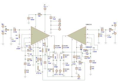 120W Stereo Amplifier using STK4241V