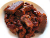 Kidney Bean Casserole with Mushrooms and Spicy Tempeh Strips