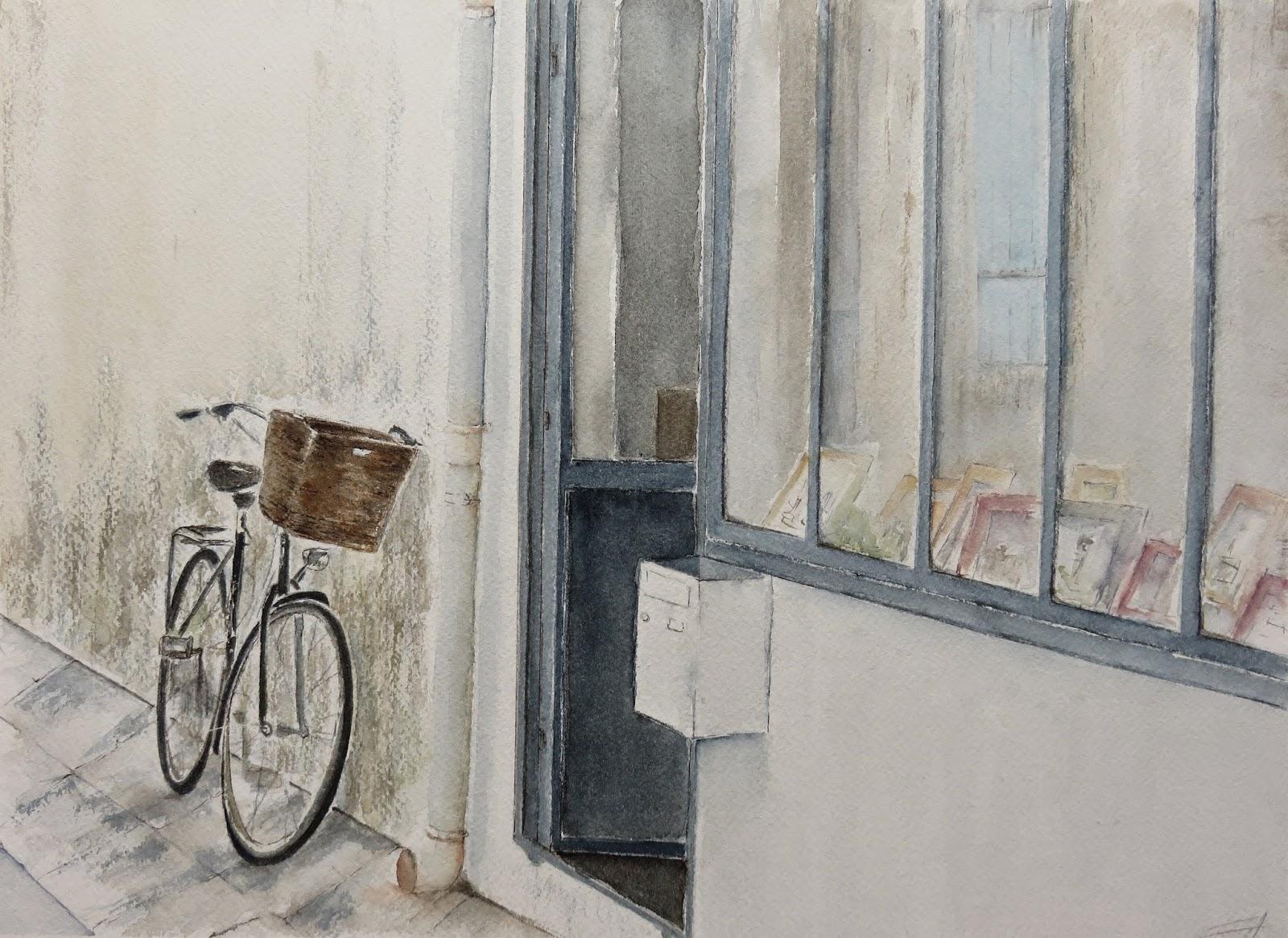 La vitrine et le vélo