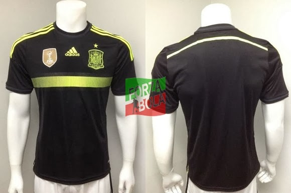 Jersey Grade Ori Spanyol Away World Cup 2014
