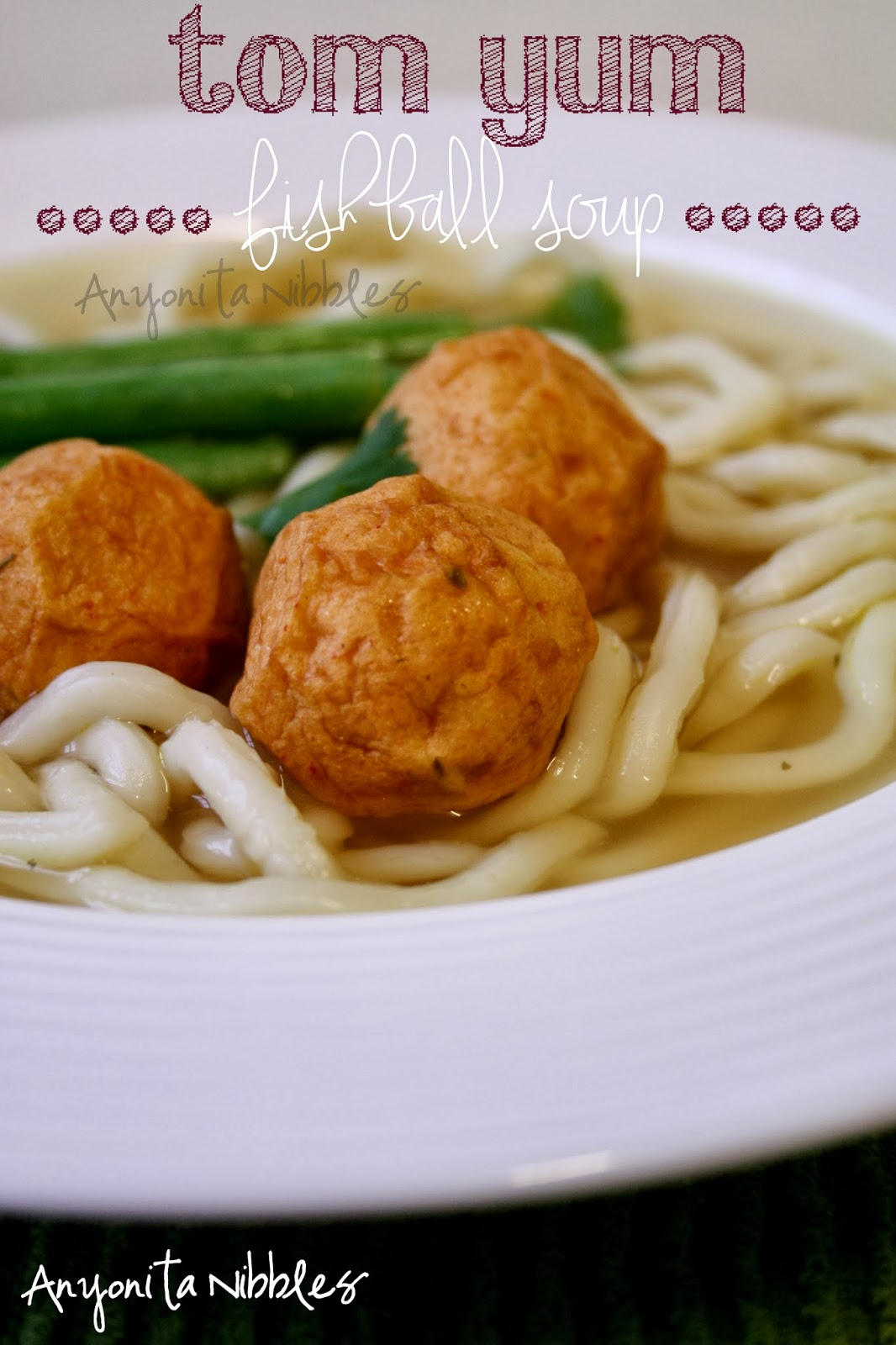 Tom Yum Fish Ball Noodle Soup ready in 10 minutes